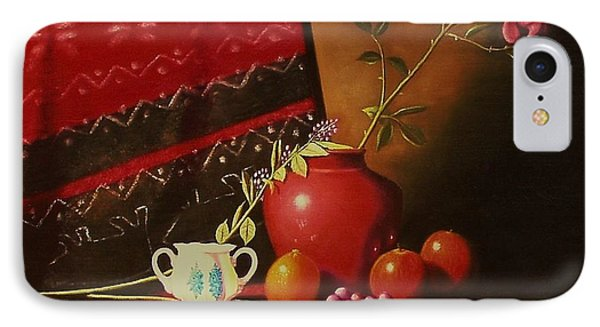 Still Life With Red Vase. IPhone Case by Gene Gregory
