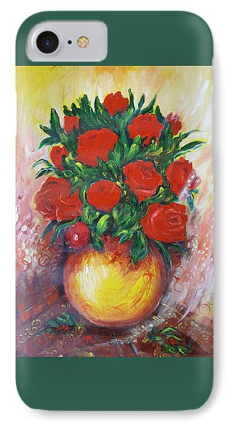 Still Life With Roses IPhone Case by Rita Fetisov