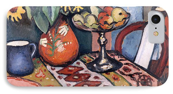 Still Life With Sunflowers II IPhone Case by August Macke