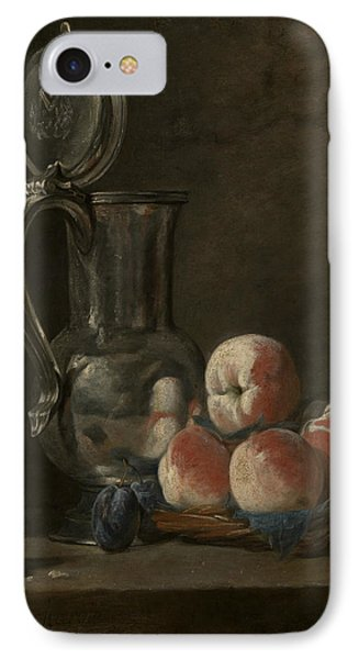 Still Life With Tin Pitcher And Peaches  IPhone Case
