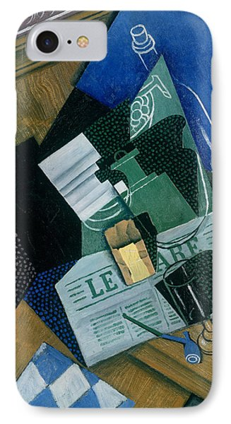 Still Life With Water Bottle, Bottle And Fruit Dish, 1915 IPhone Case by Juan Gris
