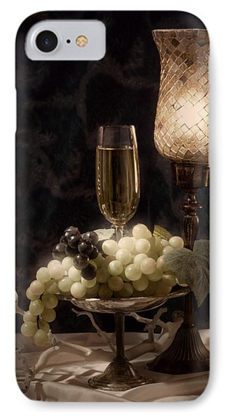 Still Life With Wine And Grapes IPhone Case by Tom Mc Nemar