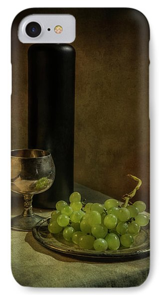 Still Life With Wine And Green Grapes IPhone Case by Jaroslaw Blaminsky