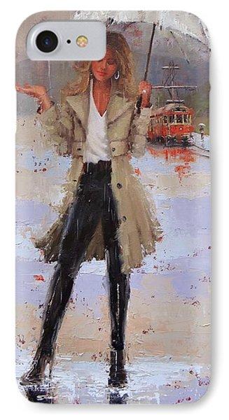 Still Raining IPhone Case by Laura Lee Zanghetti