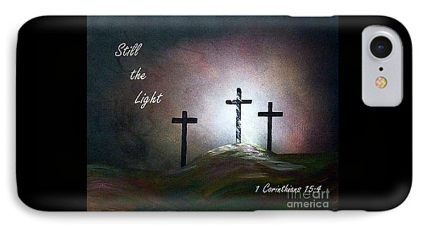Still The Light Scripture Painting IPhone Case by Eloise Schneider