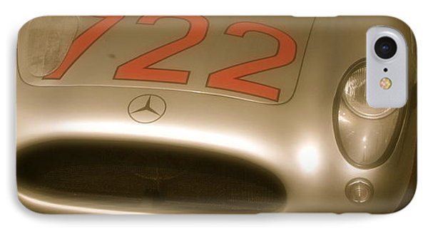 IPhone Case featuring the photograph Stirling Moss 1955 Mille Miglia Winning 722 Mercedes by John Colley