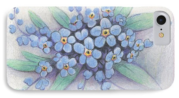 Stitched Forget-me-nots IPhone Case