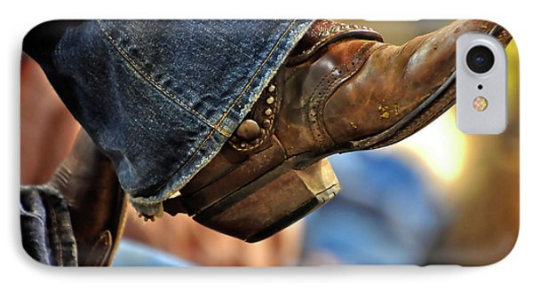 Stock Show Boots I Phone Case by Joan Carroll