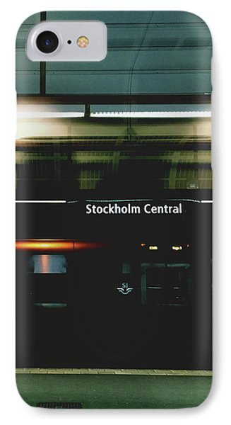 Stockholm Central- Photograph By Linda Woods IPhone Case by Linda Woods