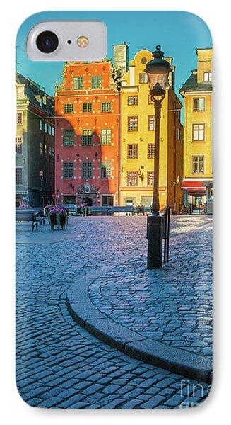 Stockholm Stortorget Square Phone Case by Inge Johnsson