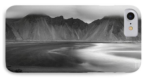 Stokksnes Iceland Bandw IPhone Case