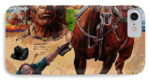 Stolen Land IPhone Case by John Lautermilch