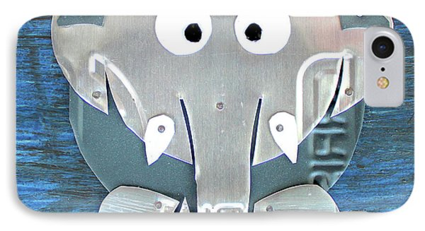 Stomp The Elephant Recycled License Plate Animal Art IPhone Case