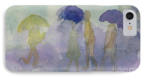 Stomping In The Rain IPhone Case by Vicki  Housel