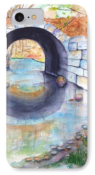 Stone Arch Bridge Dunstable IPhone Case by Carlin Blahnik
