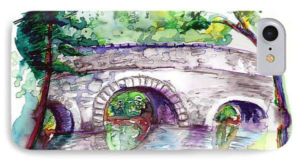 Stone Bridge In Early Autumn IPhone Case by Melinda Dare Benfield