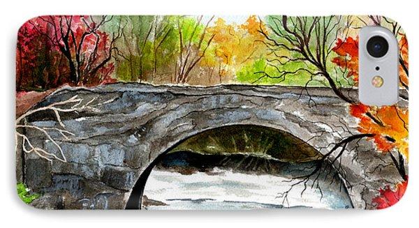 Stone Bridge In Maine  IPhone Case