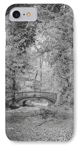 Stone Bridge In The Woods IPhone Case by Tamara Becker