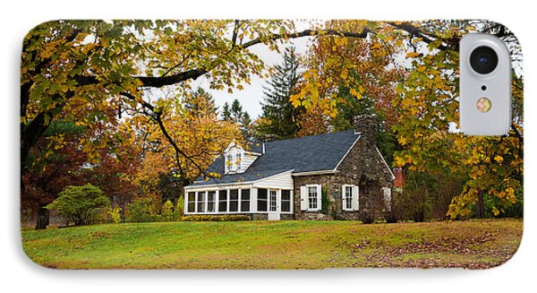 Stone Cottage In The Fall IPhone Case by Kenneth Cole