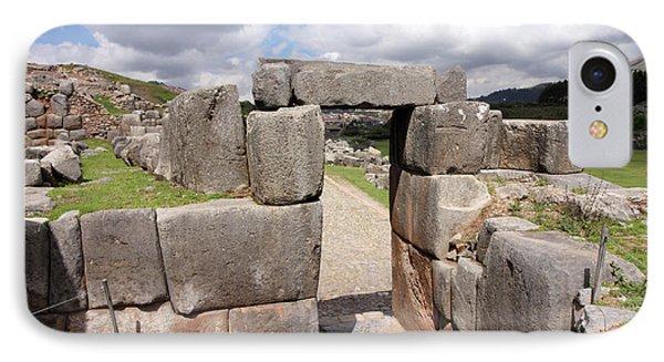 IPhone Case featuring the photograph Stone Doorway At Sacsaywaman by Aidan Moran