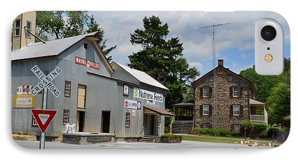 Stone House And Old Feed Mill IPhone Case by Bob Sample