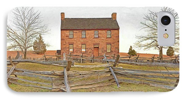Stone House / Manassas National Battlefield / Winter Morning Phone Case by Digital Photographic Arts