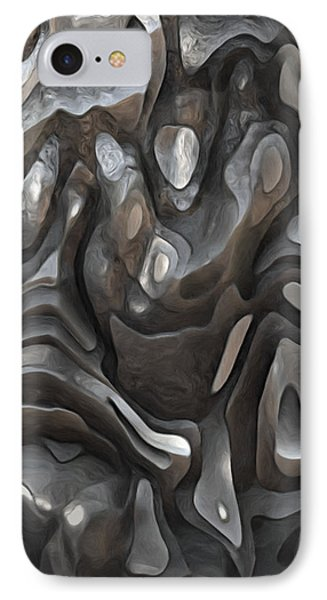 Stone Or Metal Forms IPhone Case by Jack Zulli