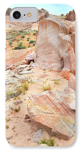 IPhone Case featuring the photograph Stone Tablet In Valley Of Fire by Ray Mathis
