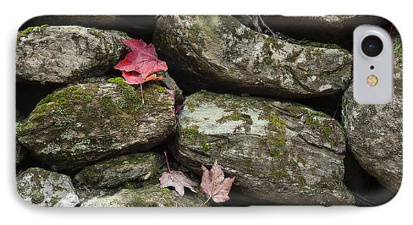 Stone Wall Autumn IPhone Case by John Greim