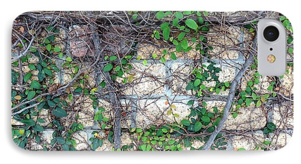 IPhone Case featuring the photograph Stone Wall Covered With Vines by Yali Shi