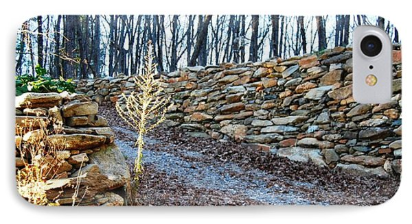 Stone Wall Ga Mountain 1 IPhone Case by Angela Murray