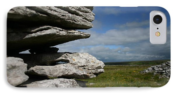 Stone Wall In The Burren IPhone Case by Martina Fagan