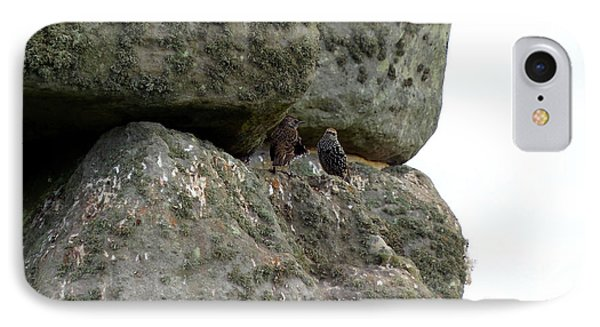 IPhone Case featuring the photograph Stonehenge Birds by Francesca Mackenney
