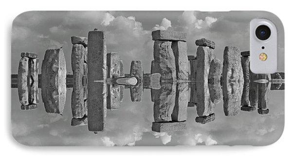 Stonehenge Bw IPhone Case by Betsy Knapp