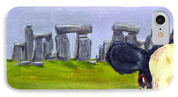 Stonehenge Cow Phone Case by Terry Taylor