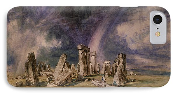 Stonehenge Phone Case by John Constable