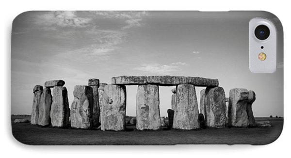 Stonehenge On A Clear Blue Day Bw Phone Case by Kamil Swiatek
