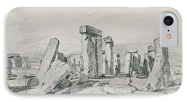 Stonehenge Wiltshire IPhone Case by John Constable