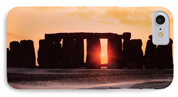 Stonehenge Winter Solstice Phone Case by English School