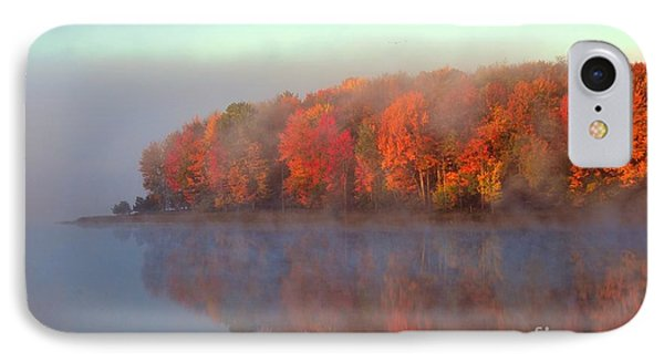 Stoneledge Lake Pristine Beauty In The Fog IPhone Case by Terri Gostola