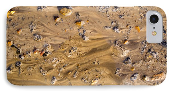Stones In A Mud Water Wash IPhone Case by John Williams