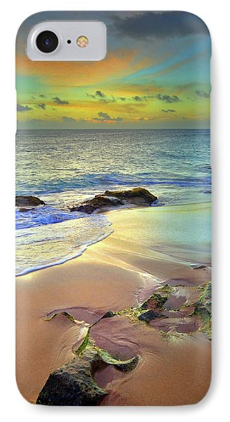 IPhone Case featuring the photograph Stones In The Sand At Sunset by Tara Turner