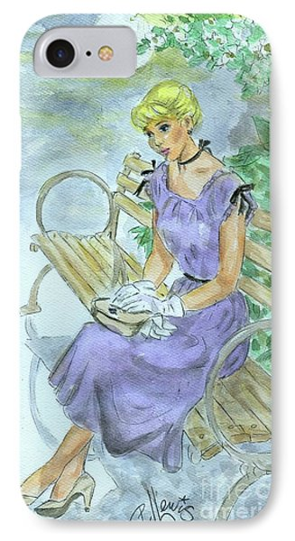 IPhone Case featuring the painting Stood Up by P J Lewis