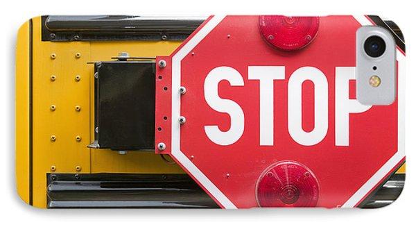 Stop Sign On School Bus Phone Case by Andersen Ross