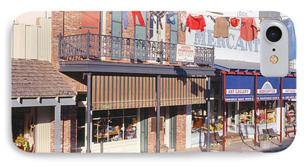 Store Fronts, Angels Camp, California IPhone Case by Panoramic Images