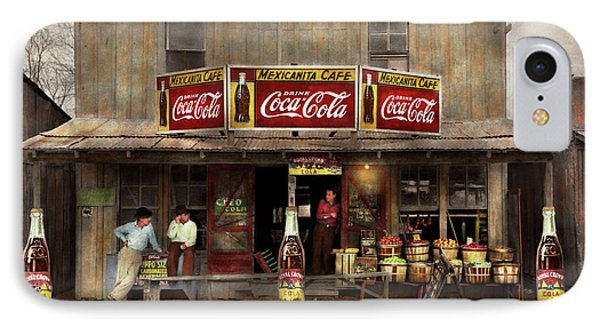 Store - Grocery - Mexicanita Cafe 1939 IPhone Case by Mike Savad