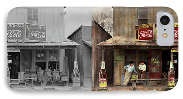 IPhone Case featuring the photograph Store - Grocery - Mexicanita Cafe 1939 - Side By Side by Mike Savad