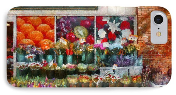 Store - Westfield Nj - The Flower Stand Phone Case by Mike Savad