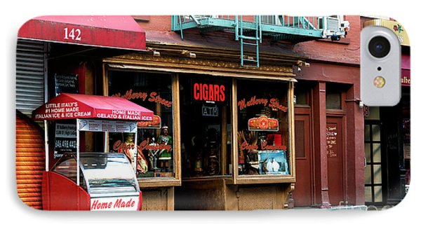 IPhone Case featuring the photograph Storefronts On Mulberry Street by John Rizzuto