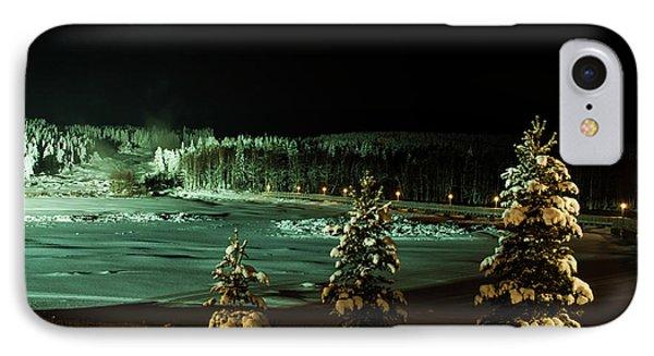 Storforsen In Night IPhone Case by Tamara Sushko